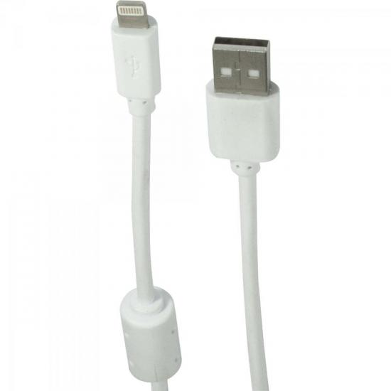Cabo Para iPhone e iPad Air USB 2.0 A Macho x Lightning 8 Pinos 1,5m XC-CD-IPH5-F Branco X-CELL