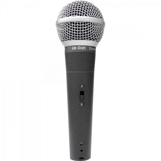 Microfone de Mão Dinâmico LS58 Cinza Chumbo LESON
