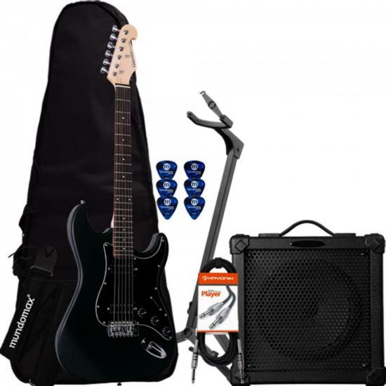 Kit Guitarra Com Captadores Humbucker G-102 GIANNINI + Cubo + Afinador + Capa + Cabo + Acessórios