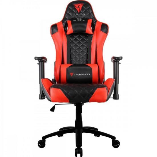 Cadeira Gamer Profissional TGC12 Preta/Vermelha THUNDERX3 (61901)