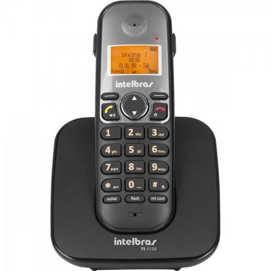 Telefone sem Fio com ID TS-5120 Preto INTELBRAS