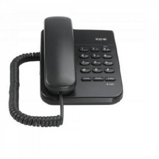 Telefone de mesa KEO K103 Preto INTELBRAS
