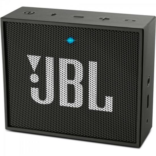Caixa Multimídia Portátil Bluetooth com Microfone GO Preta JBL