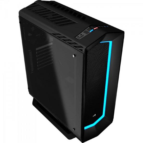 Gabinete Gamer Mid Tower PROJECT 7 EN58355 Preto