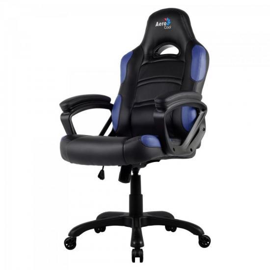 Cadeira Gamer Profissional AC80C EN54027 Preta/Azul AEROCOOL