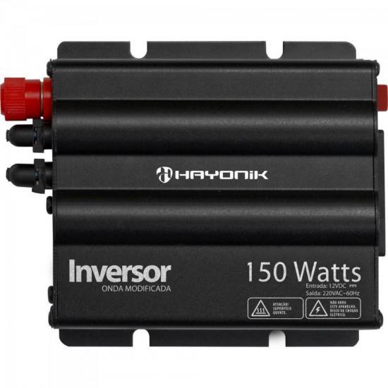 Inversor 150W 12VDC/220V Onda Modificada Cinza Escuro HAYONIK