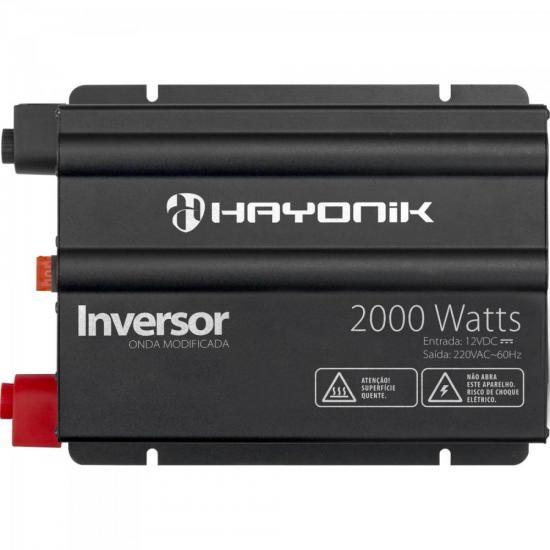Inversor 2000W 12VDC/220V Onda Modificada Cinza Escuro HAYONIK