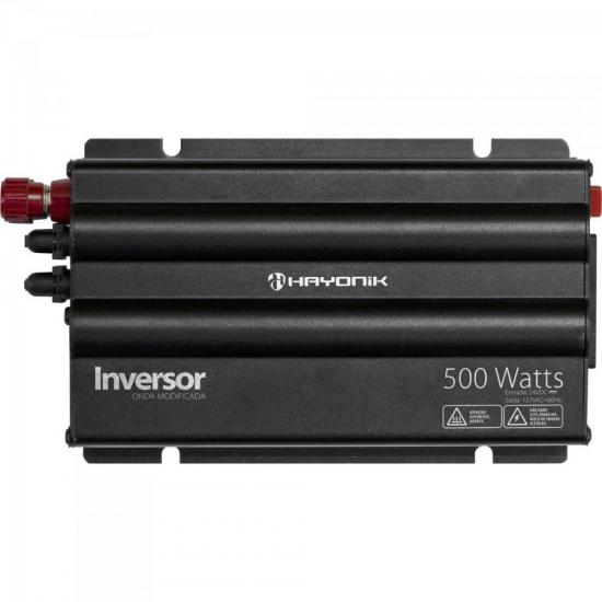 Inversor de Onda Modificada 500W 24VDC/127V Cinza Escuro HAYONIK (62398)