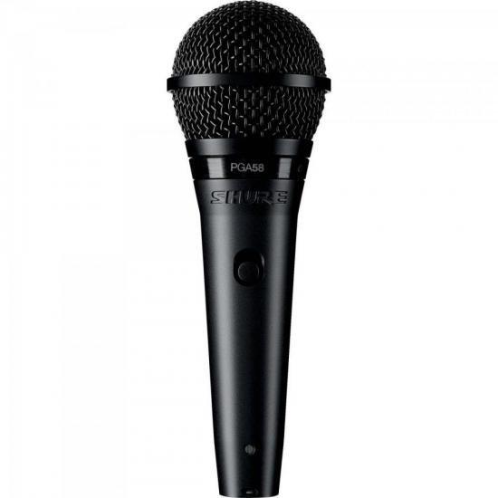 Microfone de Mão UHF PGA58-LC Preto SHURE (62400)