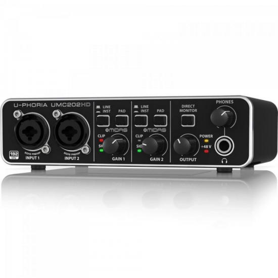 Interface de Áudio Digital U-PHORIA UMC202HD Preto BEHRINGER
