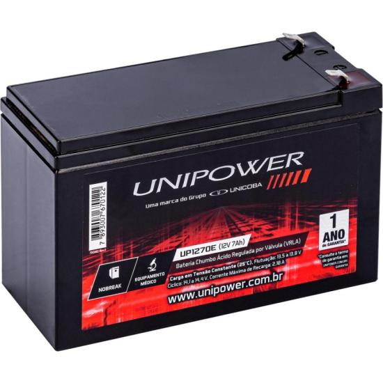 Bateria Selada UP1270 12V/7A UNIPOWER