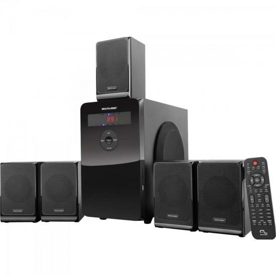 Home Theater 80W USB/SD/AUX SP177 Preto MULTILASER