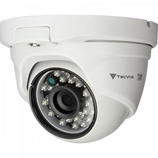 Câmera Dome IR 25m 2,8mm 2.0MP QDM-228P Branca TECVOZ