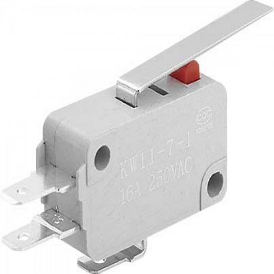 Chave Micro Switch 16A 250V KW1171-CH27MMSC5 Cinza RONTEK