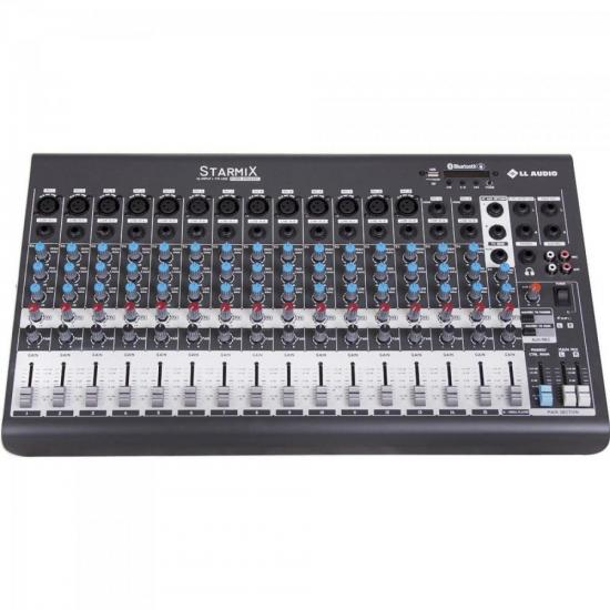 Mesas de Som c/ 16 Canais Stereo Starmix XMS1602R Cinza LL AUDIO