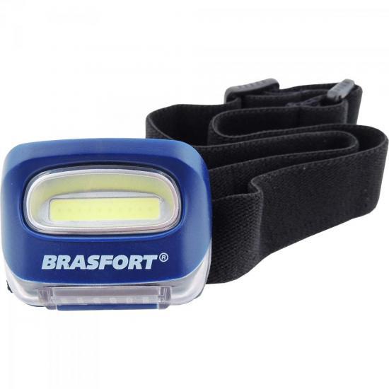 Lanterna Para Cabeça LED COB CICLOPE Azul BRASFORT