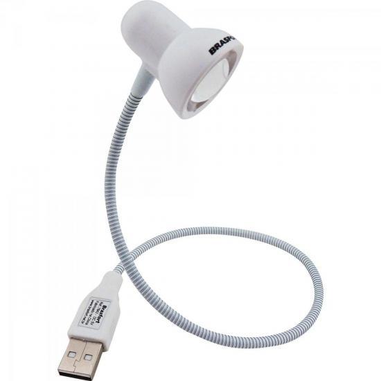 Luminária LED USB Branca BRASFORT