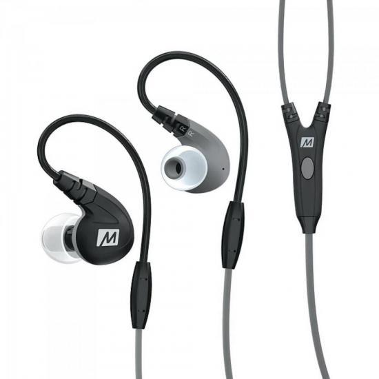 Fone de Ouvido Intra-Auricular com Microfone M7-P Preto MEE AUDIO