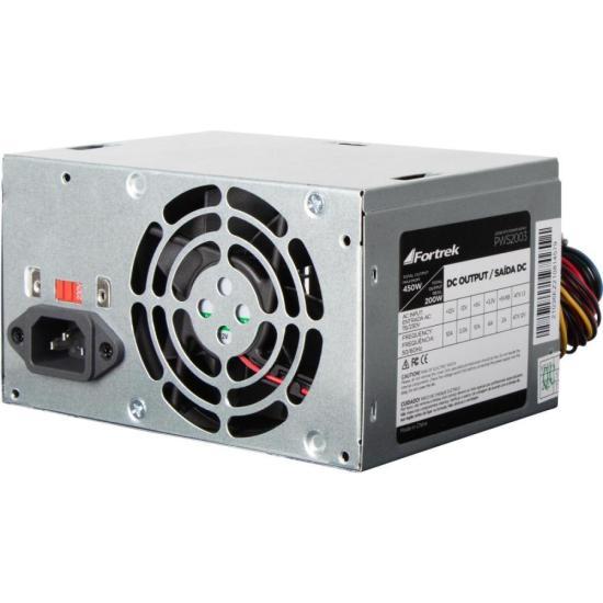 Fonte ATX 200W Reais 20+4P PWS-2003 FORTREK (62849)