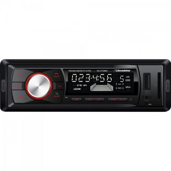 Auto Rádio USB/AM/FM/Bluetooth RS-2709BR Preto ROADSTAR