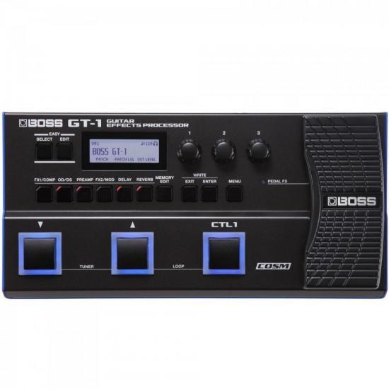 Processador de Efeitos Para Guitarra GT-1 Preto BOSS