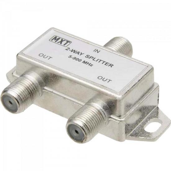 Divisor Splitter Blindado 1x2 50~900MHz Cromado MXT