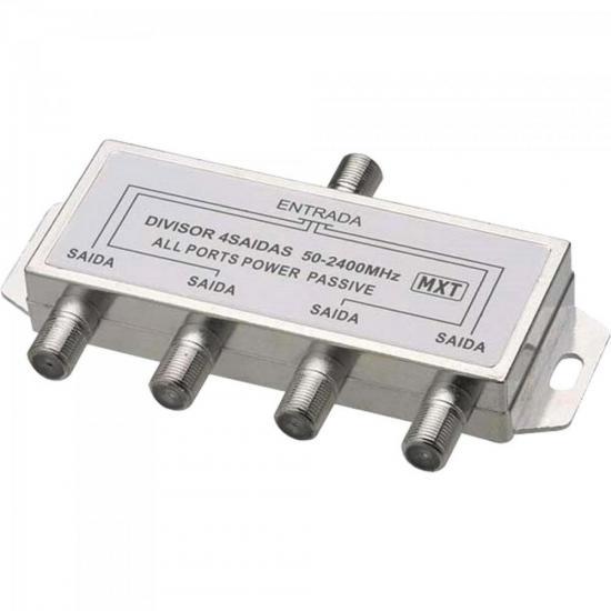Divisor Splinter Blindado 1x4 50~2400MHz Cromado MXT
