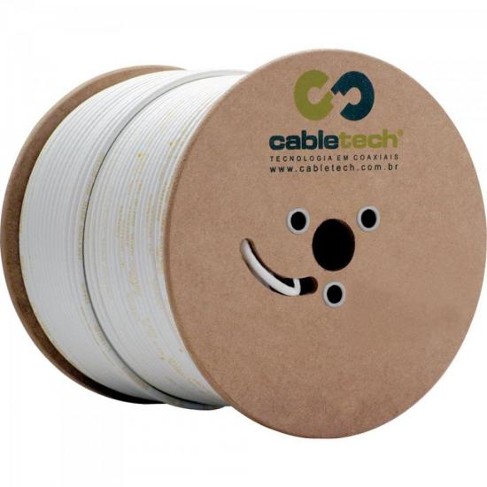 Coaxial RGE 59 67% Branco Bobina 305m CABLETECH