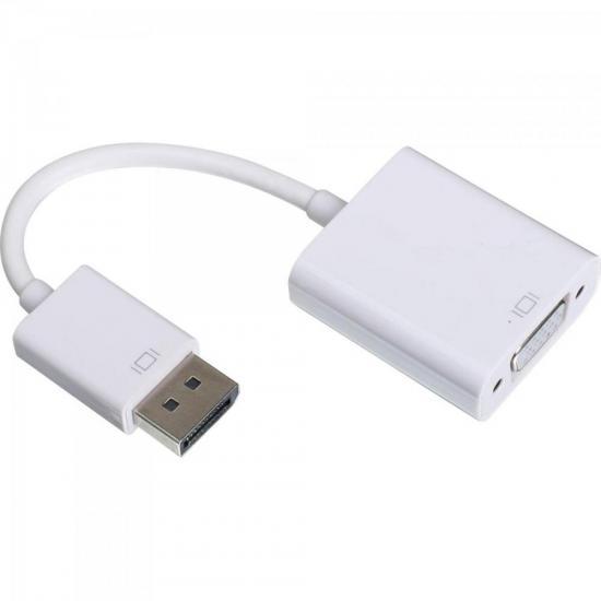 Adaptador Display Portátil Para VGA 15cm ADAP0044 Branco STORM