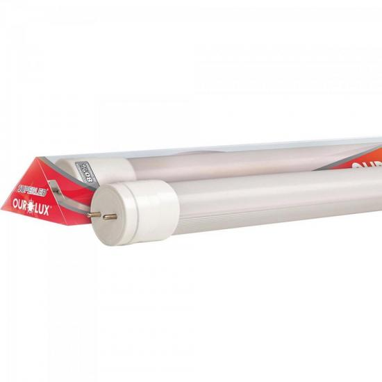Lâmpada LED 40W Bivolt 6500K T8 2,4m SUPERLED TUBE HO Branca Fria OUROLUX