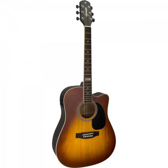 Violão Eletroacústico Dreadnought Folk Cutaway Aço GF-1D CEQ Honey Burst
