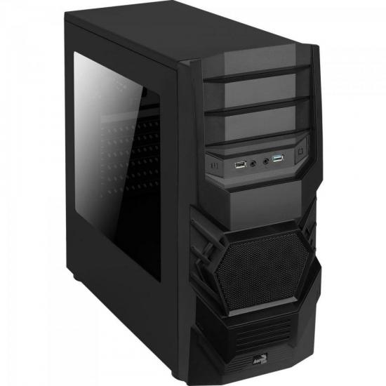 Gabinete Gamer Mid Tower 3.0 CYCLOPS ADVANCE Preto AEROCOOL
