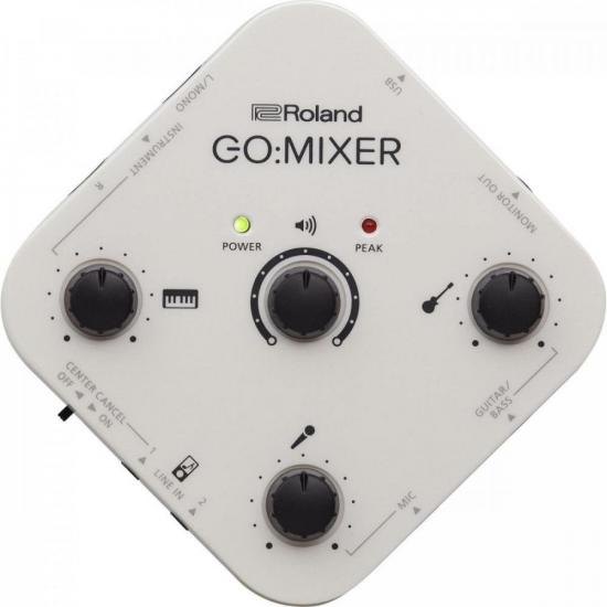 Interface de Áudio para Smartphones GO:MIXER ROLAND