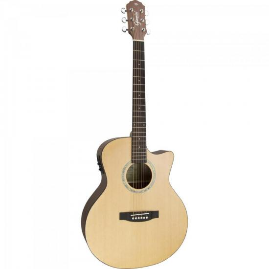 Violão Giannini GSF-3 Grand Auditorium Eletroacústico Cutaway Satin Natural Aço