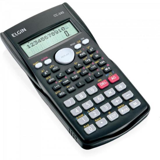 Calculadora Científica 240 Funções CC240 Preto ELGIN