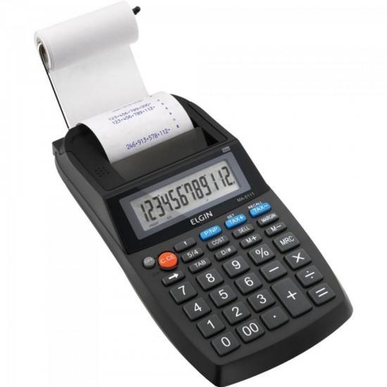 Calculadora C/ Bobina Compacta MA 5111 Preto ELGIN