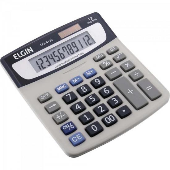 Calculadora De Mesa 12 Digitos MV 4123 Cinza ELGIN