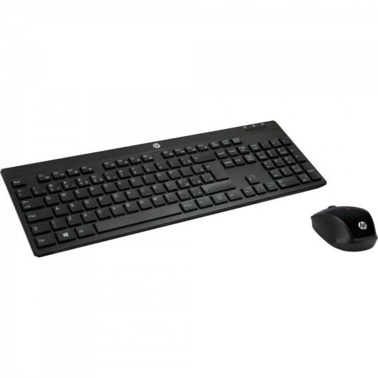 Kit Teclado + Mouse Wireless C200 Preto HP