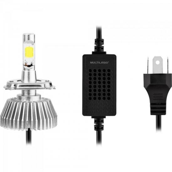 Lampadas Super LED H3 Branca MULTILASER