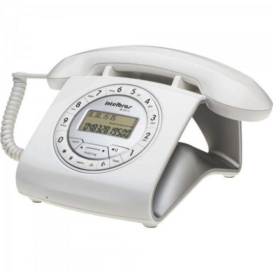 Telefone Retro TC8312 Branco INTELBRAS