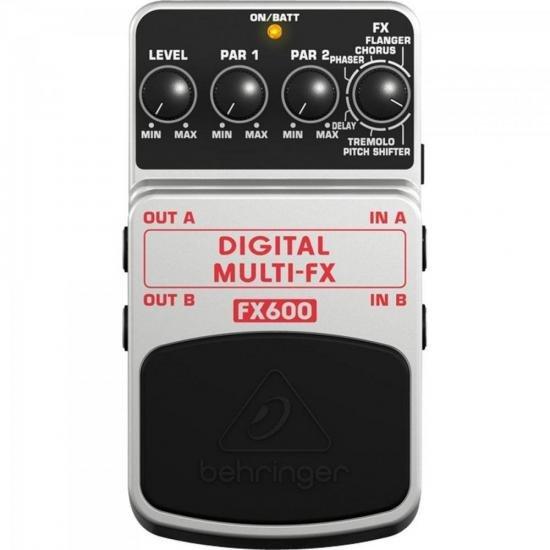 Pedal Digital Para Guitarra MULTI FX600 Preto/Cinza BEHRINGER