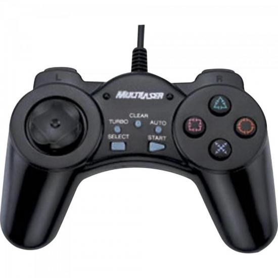 Controle Pc Game USB JS028 Preto MULTILASER