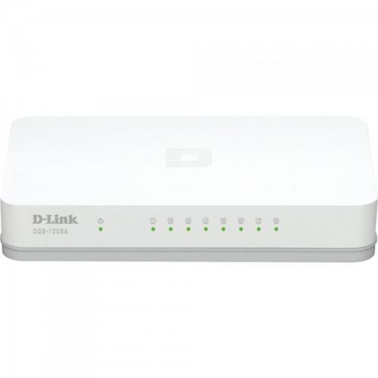 Switch 8 portas 1000MBPS DGS-1008A Branco D-LINK (64057)