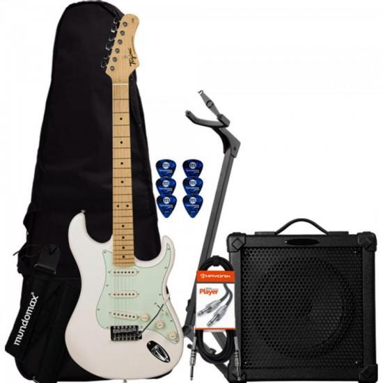 Kit Guitarra Woodstock TG-530 Creme TAGIMA + Cubo + Capa + Acessórios