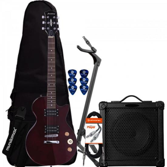 Kit Guitarra LPS-200 Translucent Wine Red STRINBERG + Cubo + Acessórios (64153)