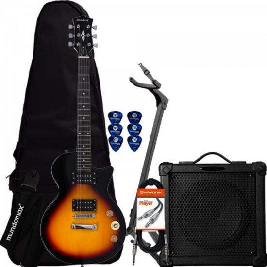 Kit Guitarra LPS-200 Sunburst STRINBERG + Cubo + Capa + Acessórios