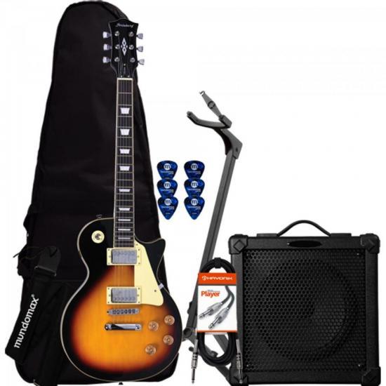 Kit Guitarra LPS-230 Sunburst STRINBERG + Cubo + Capa + Acessórios