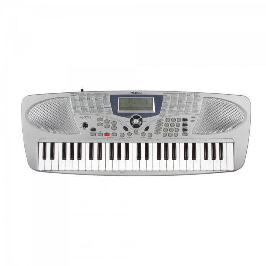 Teclado Musica 4/8 Tecla Mini MC37-A Cinza MEDELI