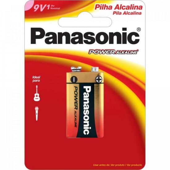 Bateria 9V Alcalina 6LF22XAB/1B24 PANASONIC (6429)