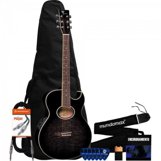 Kit Violão Elétrico Mini-Jumbo GL36 Blackburst EAGLE + Acessórios